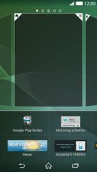 Sony Xperia Z2 - Operazioni iniziali - Installazione di widget e applicazioni nella schermata iniziale - Fase 5