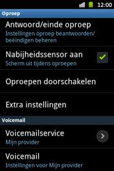 Samsung S6500D Galaxy Mini 2 - Voicemail - Handmatig instellen - Stap 5