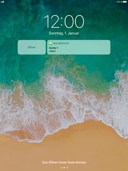 Apple iPad Air 2 - iOS 11 - Sperrbildschirm und Benachrichtigungen - 7 / 9