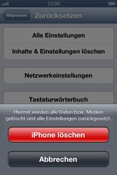 Apple iPhone 4 - Gerät - Zurücksetzen auf die Werkseinstellungen - Schritt 7