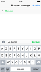Apple iPhone 5s (iOS 8) - Contact, Appels, SMS/MMS - Envoyer un SMS - Étape 8