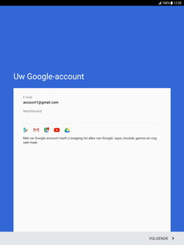 Samsung Galaxy Tab S2 9.7 - Android Nougat - Applicaties - Account aanmaken - Stap 16
