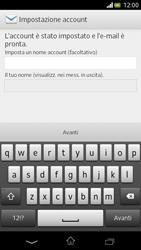 Sony Xperia V - E-mail - Configurazione manuale - Fase 15