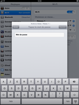 Apple iPad mini - WiFi - Configuration du WiFi - Étape 6