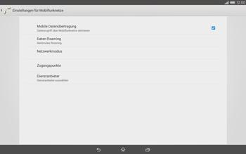 Sony Xperia Tablet Z2 LTE - Internet und Datenroaming - Deaktivieren von Datenroaming - Schritt 8