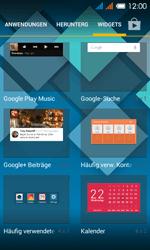Alcatel One Touch Pop C3 - Startanleitung - installieren von Widgets und Apps auf der Startseite - Schritt 4