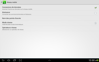 Samsung Galaxy Tab 2 10.1 - Internet et roaming de données - Configuration manuelle - Étape 7