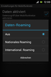 Sony Xperia E - Ausland - Im Ausland surfen – Datenroaming - Schritt 9