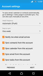 Sony Xperia Z3 - E-mail - 032c. Email wizard - Outlook - Step 8