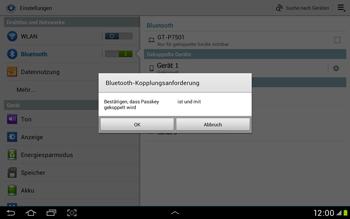 Samsung Galaxy Tab 2 10.1 - Bluetooth - Verbinden von Geräten - Schritt 7