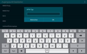 Samsung T805 Galaxy Tab S - Internet und Datenroaming - Manuelle Konfiguration - Schritt 13