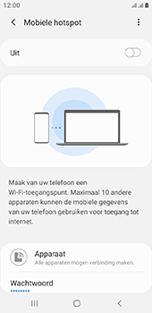 Samsung galaxy-a6-sm-a600fn-ds-android-pie - WiFi - Mobiele hotspot instellen - Stap 7