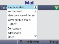 Nokia Asha 210 - E-mail - E-mails verzenden - Stap 6
