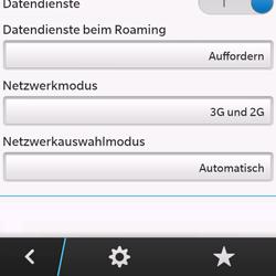 BlackBerry Q10 - Netzwerk - Manuelle Netzwerkwahl - Schritt 6
