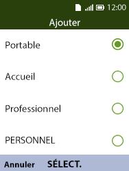 Alcatel 3088X - Contact, Appels, SMS/MMS - Ajouter un contact - Étape 10