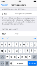 Apple iPhone SE - iOS 10 - Applications - Créer un compte - Étape 14