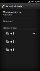 Sony Xperia U - Rete - Selezione manuale della rete - Fase 11