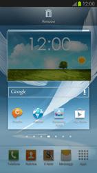 Samsung Galaxy Note II - Operazioni iniziali - Installazione di widget e applicazioni nella schermata iniziale - Fase 6