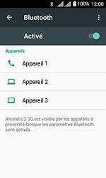 Alcatel U3 - Internet et connexion - Connexion avec un équipement multimédia via Bluetooth - Étape 7