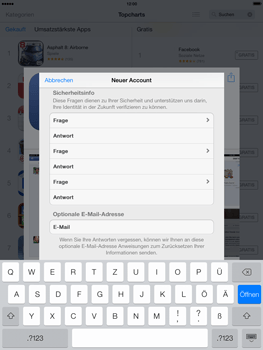Apple iPad mini iOS 7 - Apps - Einrichten des App Stores - Schritt 14