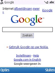 Nokia 6700 slide - internet - hoe te internetten - stap 5