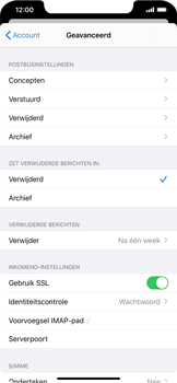 Apple iPhone XS Max - iOS 13 - E-mail - Handmatig instellen - Stap 25