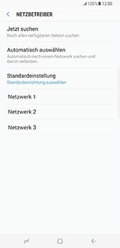 Samsung Galaxy S8 Plus - Netzwerk - Manuelle Netzwerkwahl - Schritt 9