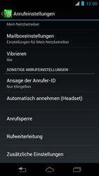Motorola RAZR i - Anrufe - Rufumleitungen setzen und löschen - 5 / 10