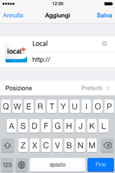 Apple iPhone 4S iOS 7 - Internet e roaming dati - Uso di Internet - Fase 15