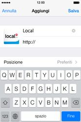 Apple iPhone 4S iOS 7 - Internet e roaming dati - uso di Internet - Fase 15