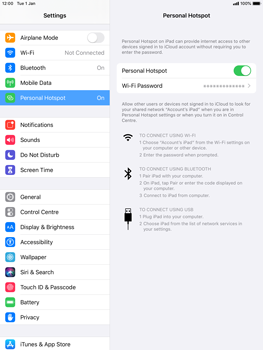 Apple iPad Mini 4 - ipados 13 - WiFi - How to enable WiFi hotspot - Step 8