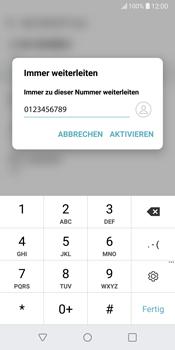LG G6 - Android Oreo - Anrufe - Rufumleitungen setzen und löschen - Schritt 8