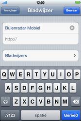 Apple iPhone 4S met iOS 5 (Model A1387) - Internet - Hoe te internetten - Stap 11