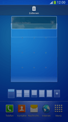 Samsung Galaxy S 4 Active - Startanleitung - Installieren von Widgets und Apps auf der Startseite - Schritt 10