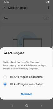 Samsung Galaxy S9 - Android Pie - WiFi - So aktivieren Sie einen WLAN-Hotspot - Schritt 7