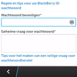 BlackBerry Q5 - Applicaties - Account aanmaken - Stap 11