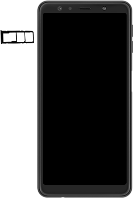 Samsung Galaxy A7 (2018) - Appareil - comment insérer une carte SIM - Étape 3