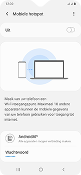 Samsung Galaxy A20e - Internet - mijn data verbinding delen - Stap 11