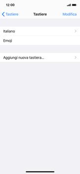 Apple iPhone X - iOS 13 - Operazioni iniziali - Come aggiungere una lingua alla tastiera - Fase 6