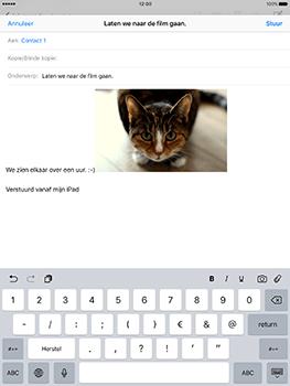 Apple iPad 9.7 (Model A1823) - E-mail - Hoe te versturen - Stap 12