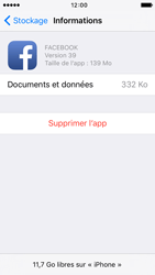 Apple iPhone 5c iOS 9 - Applications - Comment désinstaller une application - Étape 7