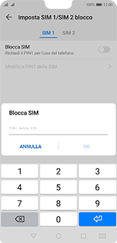 Huawei P20 - Android Pie - Operazioni iniziali - Come abilitare il pin della SIM - Fase 9