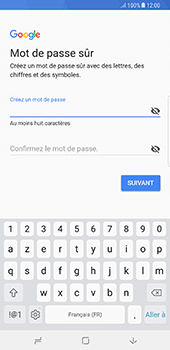 Samsung Galaxy Note 8 - Applications - Créer un compte - Étape 13