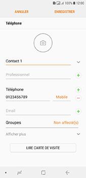 Samsung Galaxy A6 - Contact, Appels, SMS/MMS - Ajouter un contact - Étape 11