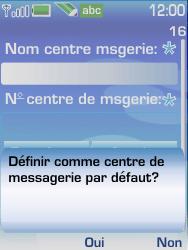 Nokia 6233 - SMS - configuration manuelle - Étape 9