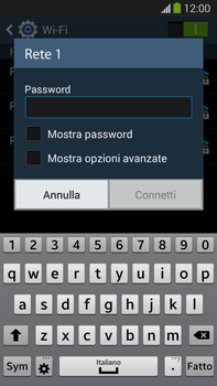 Samsung Galaxy Note III LTE - WiFi - Configurazione WiFi - Fase 7