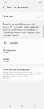 Samsung Galaxy Z flip - WiFi - Comment activer un point d'accès WiFi - Étape 11