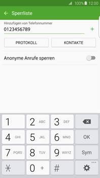 Samsung G928F Galaxy S6 edge+ - Anrufe - Anrufe blockieren - Schritt 10
