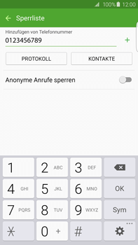 Samsung Galaxy S6 edge+ - Anrufe - Anrufe blockieren - 10 / 12