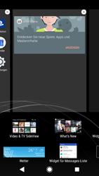 Sony Xperia XZ1 - Startanleitung - Installieren von Widgets und Apps auf der Startseite - Schritt 5